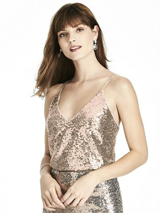 After Six T1508 Separate Sequin Bridesmaid Top French Novelty
