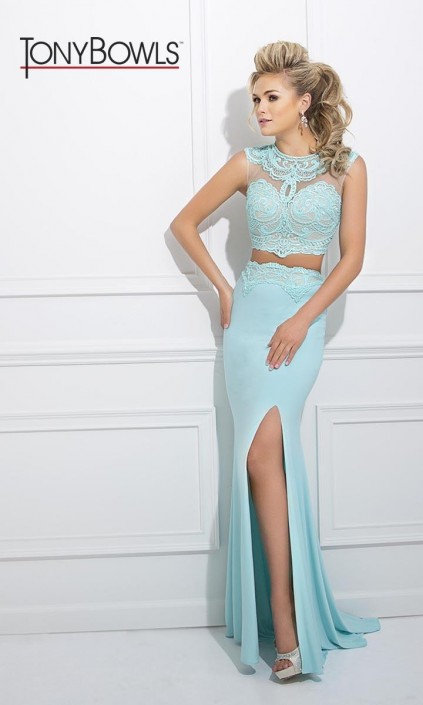 821ee8287b4d Tony Bowls TB11601 Gorgeous 2pc Prom Gown: French Novelty