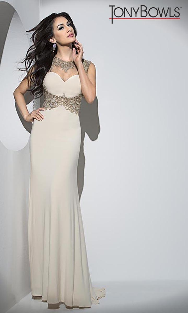 Tony Bowls TB11679 Embellished Waist Prom Gown: French Novelty