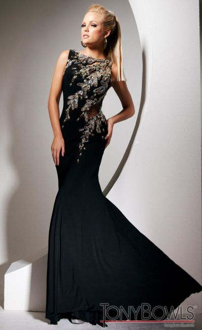 Tony Bowls Black Evening Dresses