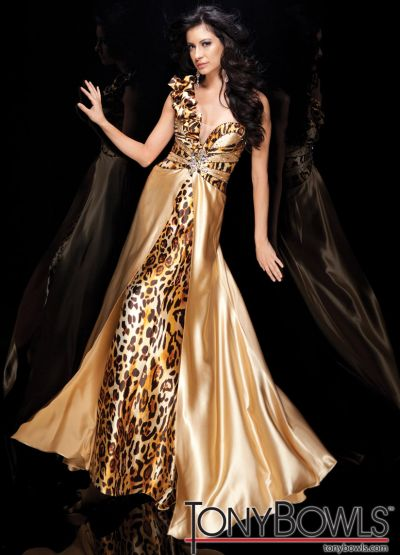 Tony Bowls Evenings Animal Print Evening Dress TBE21114: French ...