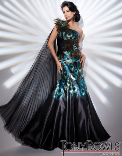 Peacock Dress Evening Wear