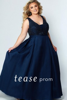 2a5ab8fb9141b Sydneys Closet TE1950 Beautiful Tease Prom Dress