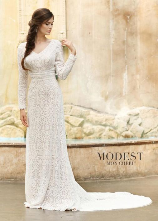 Modest Bridal by Mon Cheri TR11831 Soft Lace Wedding Dress: French ...