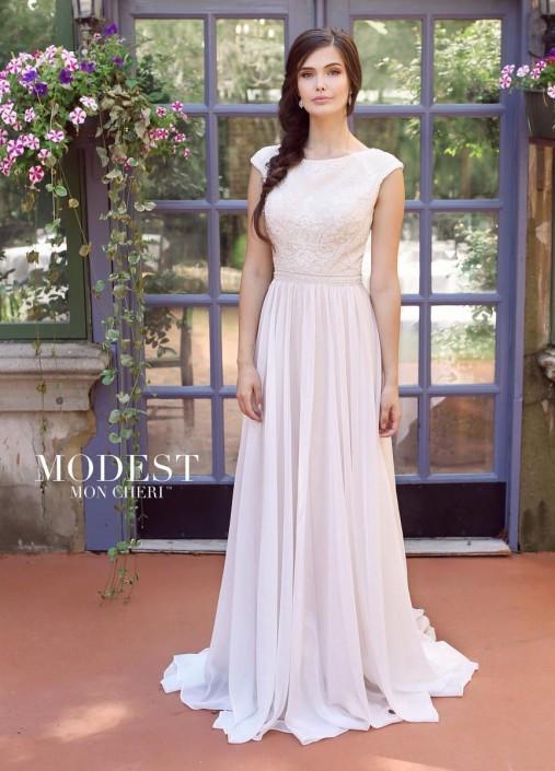 Modest Bridal by Mon Cheri TR11841 Cap Sleeve Wedding Dress: French ...