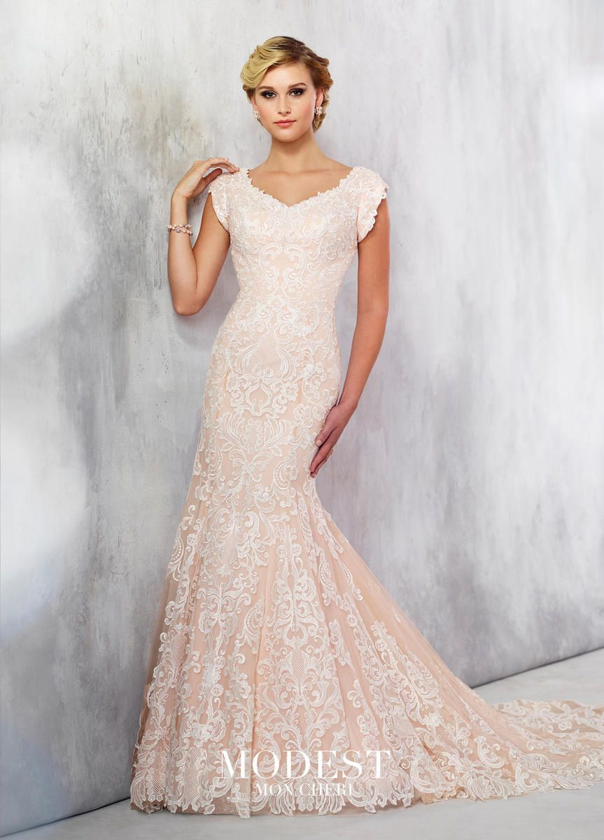 Modest By Mon Cheri Tr21712 Fit And Flare Wedding Gown
