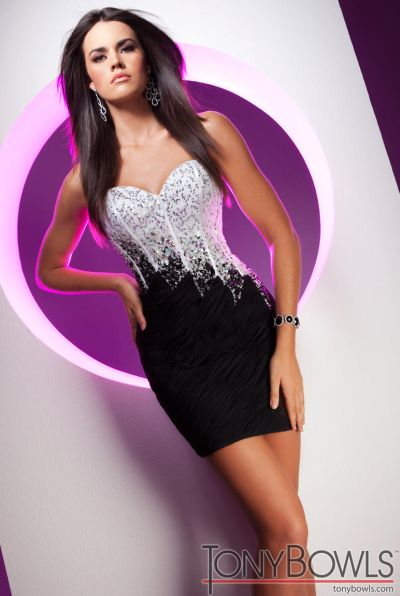 Tony Bowls Shorts Fitted Sequin Cocktail Dress TS11354: French Novelty