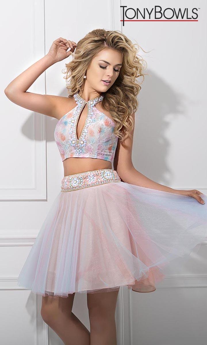 Tony Bowls TS11677 Short 2pc Prom Dress: French Novelty