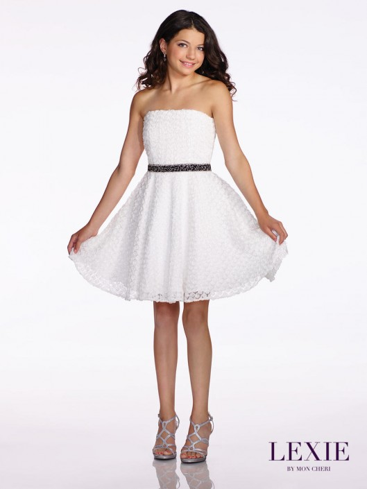 eb29e1a04b1 Lexie By Mon Cheri Tw11651 Bat Mitzvah Party Dress French Novelty