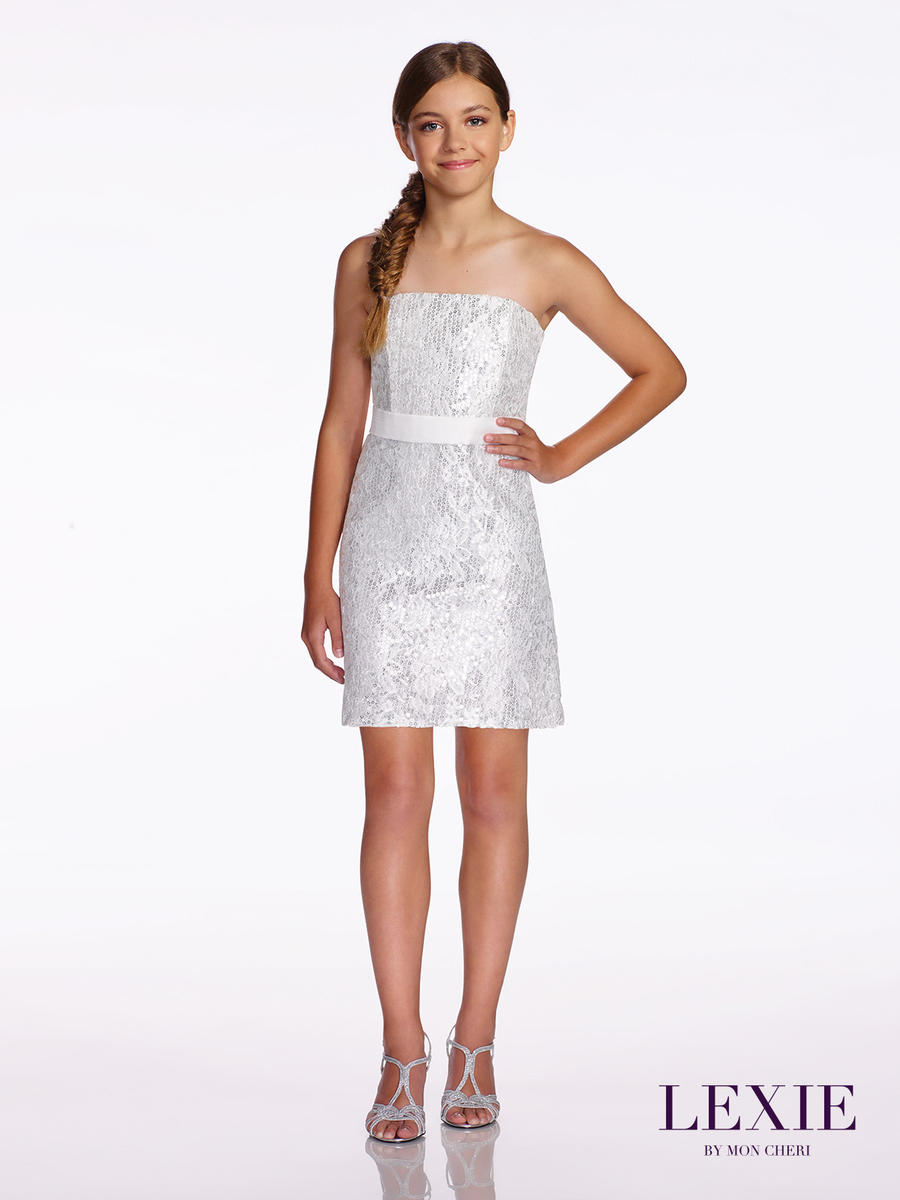 Lexie by mon cheri tw11652 lace tween formal dress french for Wedding dresses for tweens