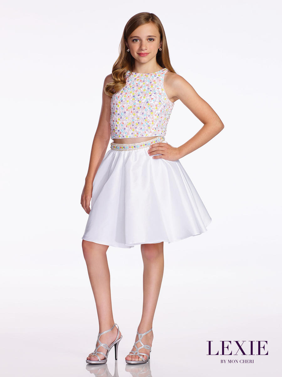 Lexie By Mon Cheri Tw11653 Tween 2pc Taffeta Party Dress
