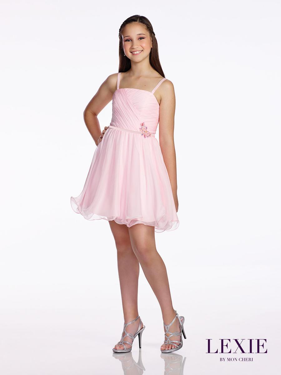 Like Teen model white dress