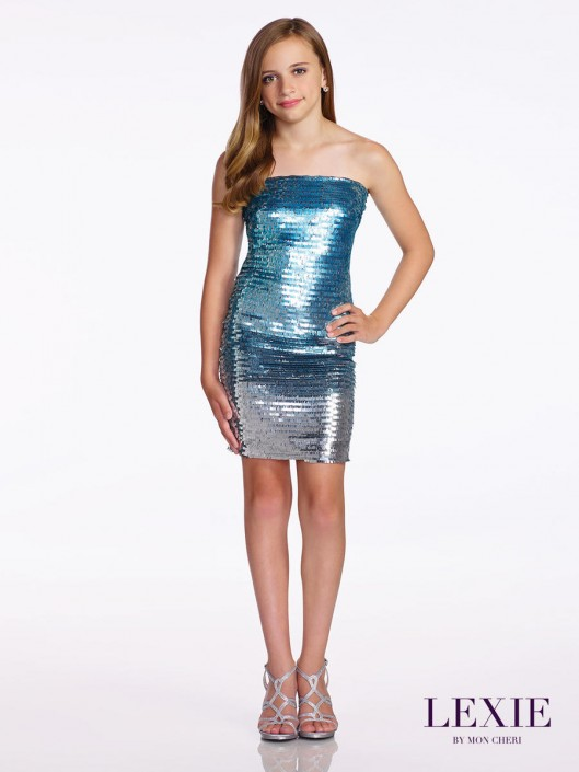 9cc862bed7d20 Lexie by Mon Cheri TW11658 Tween Ombre Sequin Dress: French Novelty