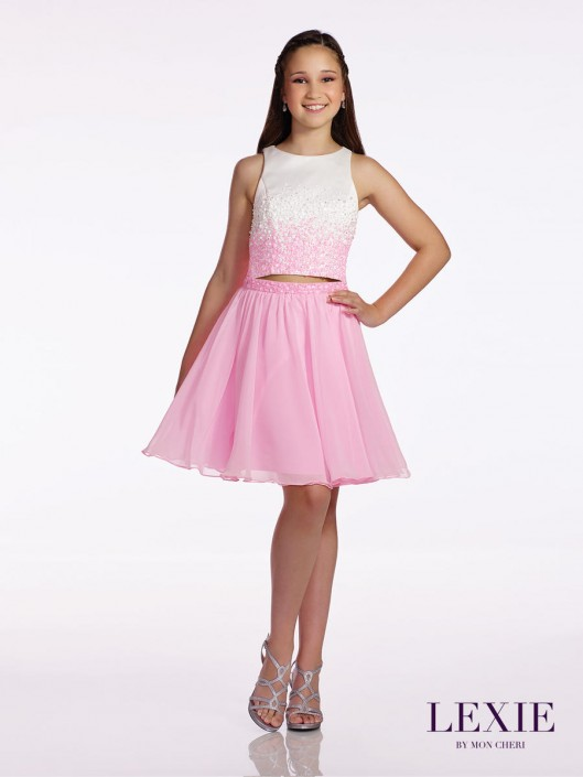 b8ef4e2bde7 Lexie by Mon Cheri TW11663 Tween 2pc Ombre Party Dress  French Novelty