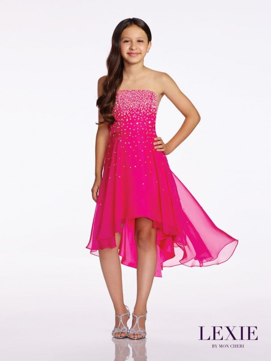 0f84334ab36 Lexie by Mon Cheri TW11672 Tween High Low Party Dress  French Novelty