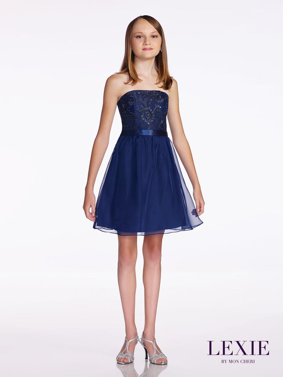 Lexie by mon cheri tw11673 middle school graduation dress for Wedding dresses for tweens