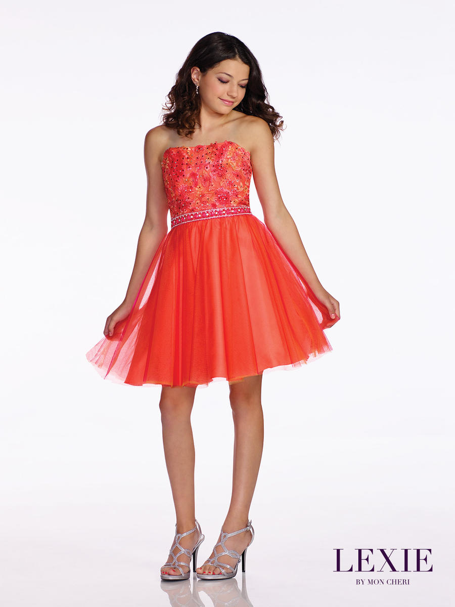Lexie by mon cheri tw11676 lace a line tween dress french for Wedding dresses for tweens