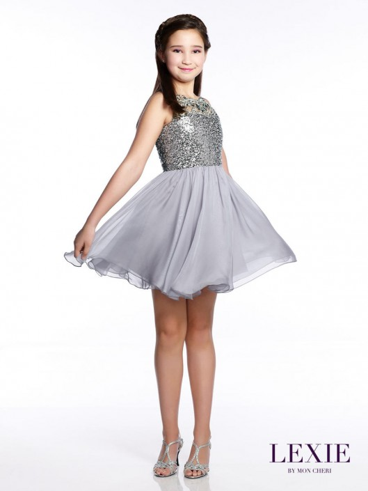 eb5a0ae55fa Lexie by Mon Cheri TW21542 Tween Halter Party Dress  French Novelty