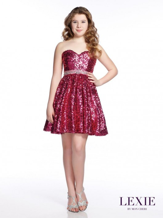 5054ea2f4 Lexie by Mon Cheri TW21543 Tween Sequin Dress: French Novelty