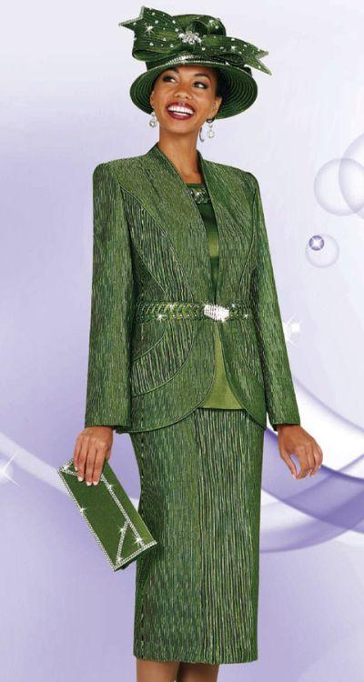 Ladies Designer Church Suits BenMarc 3pc Suit 4431: French ...