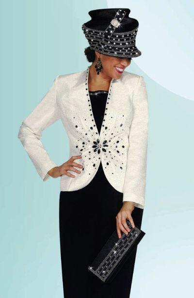 Black And White Womens Church Suit Benmarc International