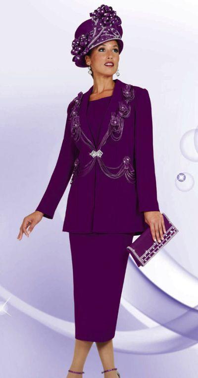 Womens Designer Church Suits Benmarc 3pc Suit 4446