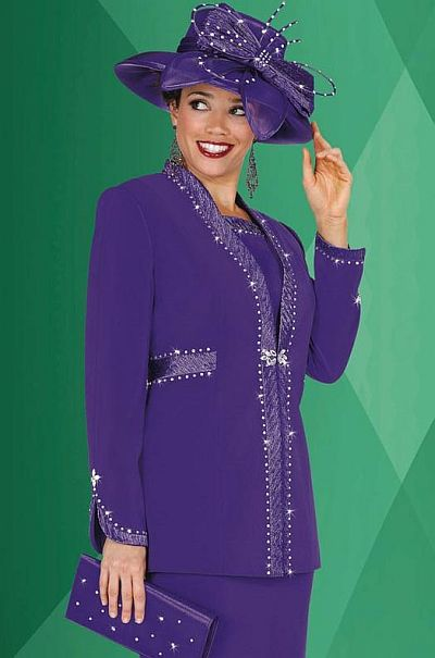 Plus Size Embellished Church Suits BenMarc Fifth Sunday Suit 52522