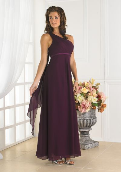 One Shoulder Long Christina Wu Bridesmaid Dress 22347 By