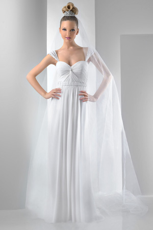 Bari Jay Destination Wedding Dress 2012 with Detachable Straps