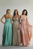 Size 6 Watermelon Dave and Johnny 10395 Beaded Formal Dress image
