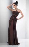 Bari Jay Long Halter Bridesmaid Dress 104 image