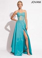 Jovani 10466 Corset Satin Formal Dress image