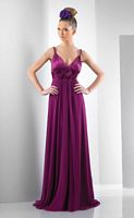 Bari Jay Charmeuse Long Bridesmaid Dress 110 image