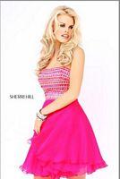 Size 0 Aqua Sherri Hill Dress 11028 image