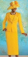 Donna Vinci Womens 3pc Church Suit with Cutwork Lapels 11056 image
