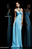 Sherri Hill 11071 Long Dress with Beaded Straps image