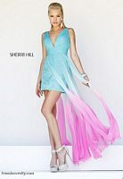 Sherri Hill 11077 High Low Ombre Dress image