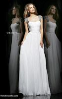 Sherri Hill 11087 Cap Sleeve Ruched Long Dress image