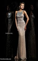 Sherri Hill 11095 Allover Beaded Evening Dress image