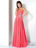 Jovani 110967 Ruched Jeweled Formal Dress image