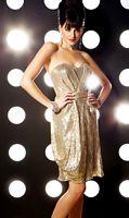 MacDuggal Evening Gold Beaded Cocktail Dress 1109TD image