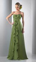 Ruffled Strapless Long Bari Jay Bridesmaid Dress 111 image