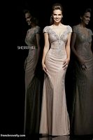 Sherri Hill 11103 Cap Sleeve V Back Evening Dress image