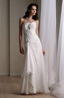Destinations by Mon Cheri Chiffon Lace Destination Bridal Dress 111172 image