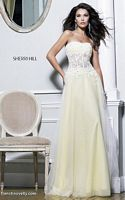 Sherri Hill 11135 Sheer Lace Corset Evening Dress image