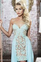 Sherri Hill 11143 High Low Sheer Lace Dress image