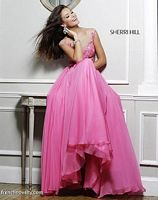Sherri Hill 11151 Cap Sleeve Sheer Lace Gown image