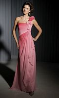 Size 14 Cameron Blake by Mon Cheri Coral Ombre Evening Dress 111670 image