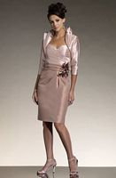 Size 4 Social Occasions by Mon Cheri Pink Short Dressy Suit 111803 image