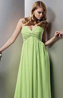 Jordan Couture Draped Knotted Chiffon Long Bridesmaid Dress 1119 image
